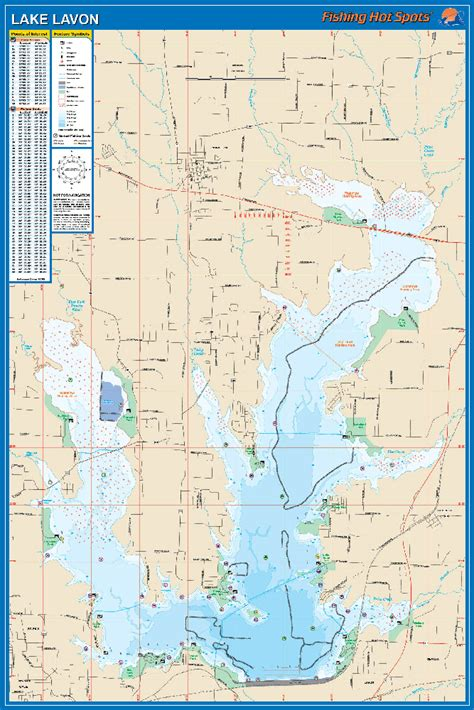 lavon texas map lavon fishing map lake