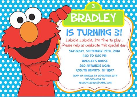 elmo invitation template free elmo birthday invitations sesame