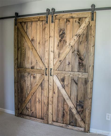 Diy Double Barn Door Plans Diy Sliding Barn Door Plans