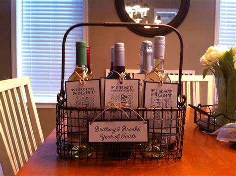 Wine basket year of firsts   given to my sister in law