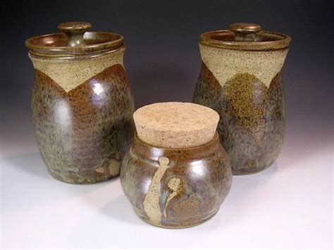 brown kitchen canister sets kitchen canister storage jar pottery canister set brown
