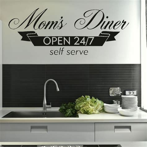 moms diner kitchen quote wall stickers home vinyl decal dining room decor kq ebay