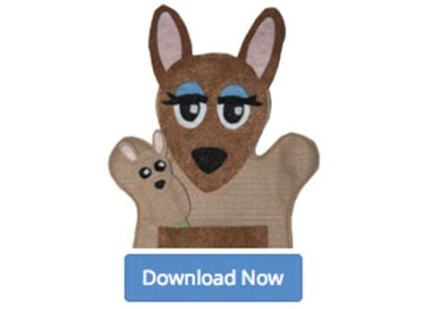 free mama and baby kangaroo felt hand puppet patterns