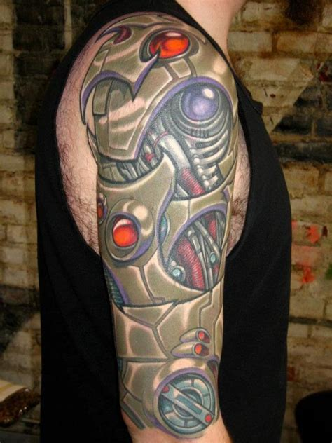 biomechanical tattoo san jose bio mech sleeve by ron earhart tattoos
