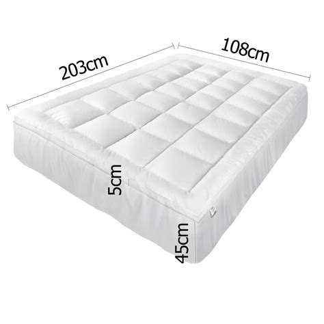 Mattress Topper Cover King Buy Pillowtop Mattress Topper Memory Resistant Protector Pad Cover King Single At Ikoala