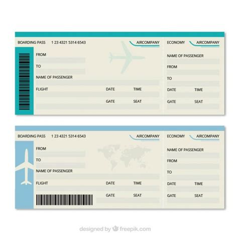 great boarding pass template vector free download