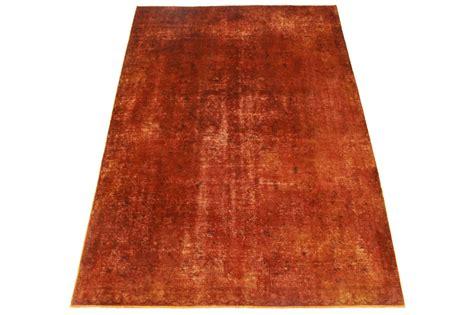 teppiche retro vintage teppich rot rost in 270x190cm 1001 3419 bei