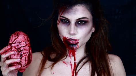 zombie girl makeup tutorial zombie girl makeup tutorial youtube