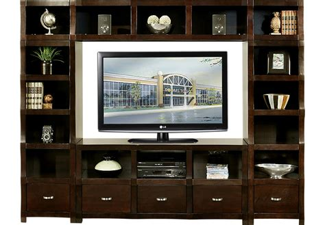 wall unit eldon square merlot 4 pc wall unit wall units wood