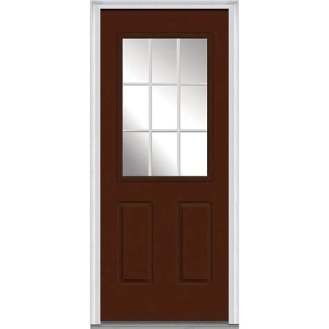 30x80 Exterior Door Mmi Door 30 In X 80 In Grilles Between Glass Left 1 2 Lite 2 Panel Classic Painted