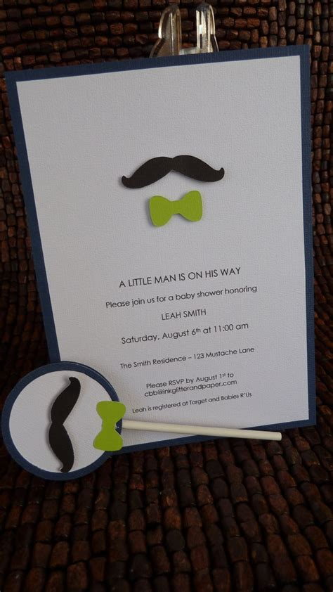 Mustache And Bow Tie Baby Shower by Mustache And Bow Tie Baby Shower Invitations Plumegiant