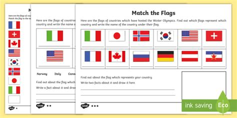 flags of the world quiz ks2 ks1 match the flags differentiated worksheet activity sheet