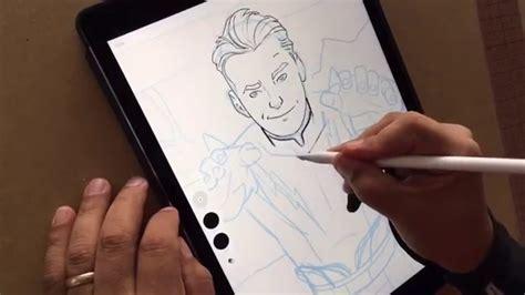 drawing tutorial sketchbook ipad sketching with ipad pro youtube