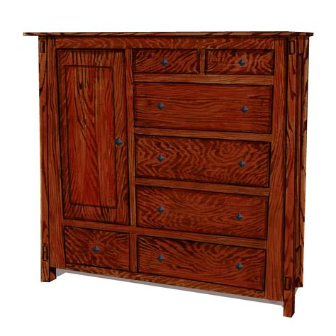Amish Handmade Furniture - angled bedroom collection gentlemen s chest amish