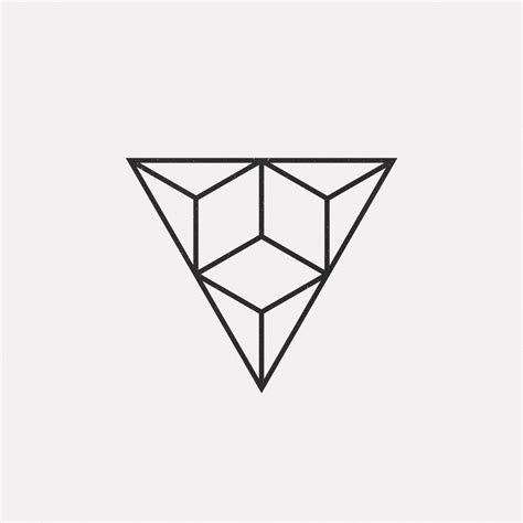 triangle tattoo design a new geometric design every day triangles minimal