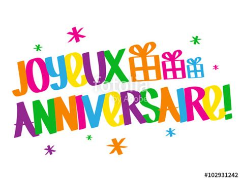 """""""Carte JOYEUX ANNIVERSAIRE """" Stock image and royalty free vector files on Fotolia.com   Pic"""