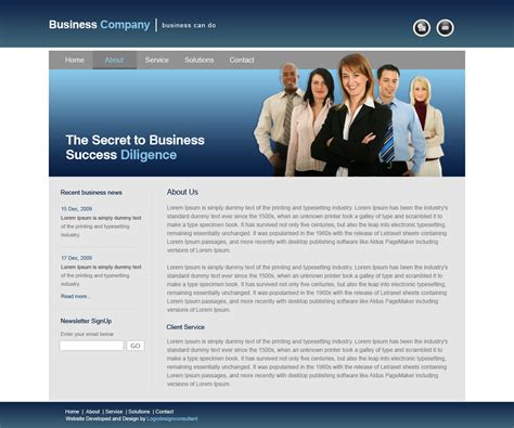 website homepage design web site design portfolio with exles and sles on business company site design