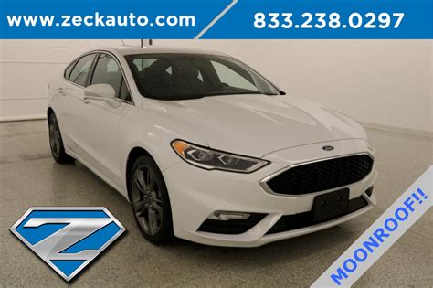 pre owned  ford fusion sport  sedan  leavenworth fcb zeck ford