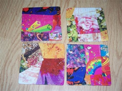 how to make decoupage coasters magazine collage coasters 183 how to make a coaster