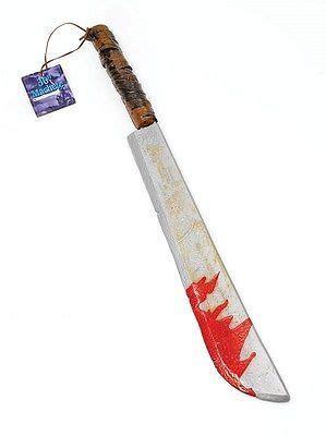 bloody machete knife axe halloween weapon scythe sythe