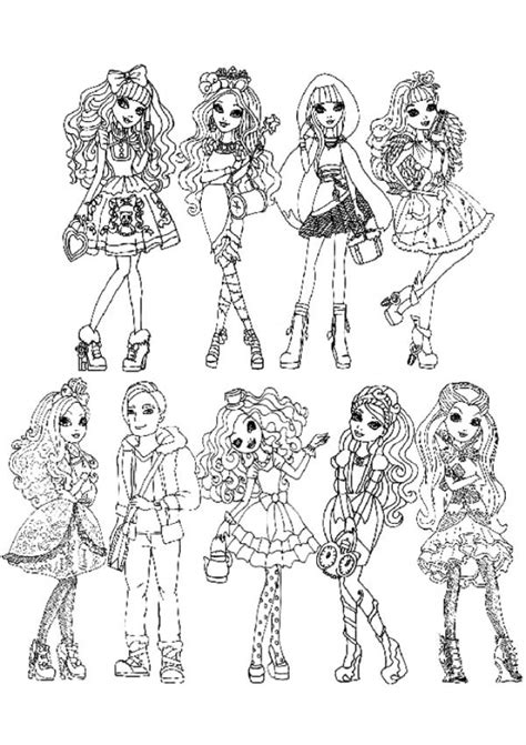coloring pages for ever after high get this ever after high coloring pages for girls fgt45