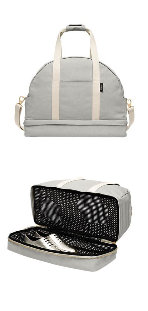 bag with sneaker compartment leather weekend bag with shoe compartment bags more