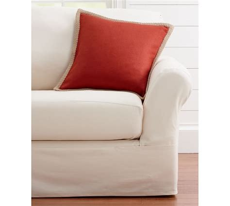 pottery barn loose fit slipcover twill separate seat tailored loose fit slipcover pottery