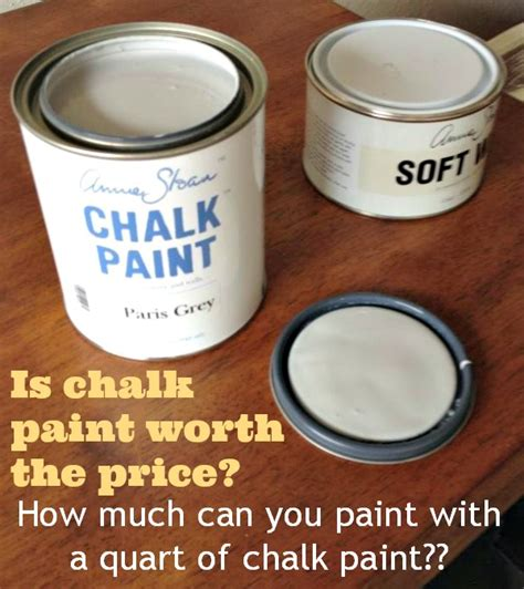 how much is a can of paint how much can you paint with a quart of chalk paint my