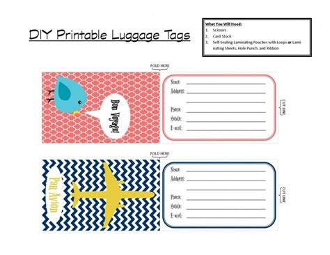 printable luggage tags printable tags with that in mind i ve created a set of