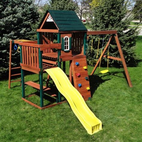 good swing sets outdoor wooden play sets online stores swing n slide