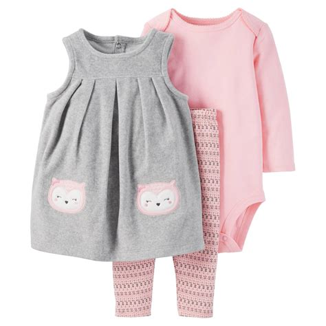 Jumper Baby Set by Baby 3 Owl Jumper Set Grey Pink Just One