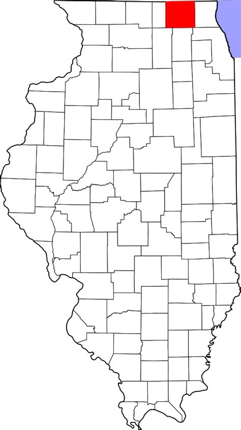 Mchenry County Search File Map Of Illinois Highlighting Mchenry County Svg