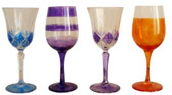 Fit for royalty use glass paint to create stunning wine glasses for