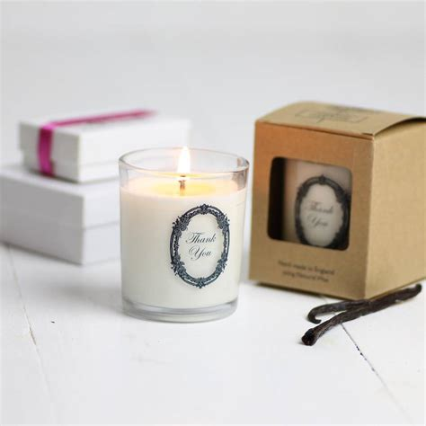 Candle Gifts Thank You Scented Candle Gift By Hearth Heritage Ltd