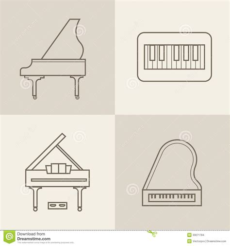 format eps vector piano icons stock images image 33071784