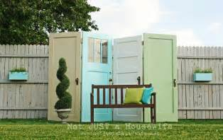 Krylon Outdoor Spaces - old door privacy screen not just a housewife