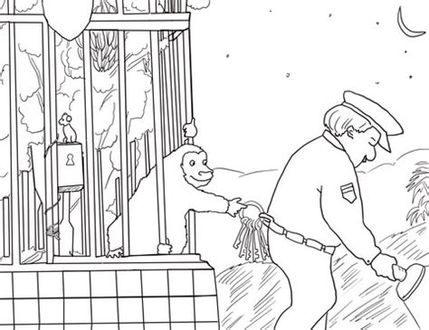 goodnight gorilla coloring page good night gorilla coloring page supercoloring com