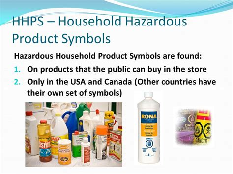 hazardous household products safety symbols at home and work ppt video online download