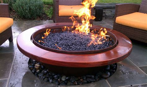 Gas Outdoor Firepit Handmade Outdoor Gas Pit By Sawdust Steel Custommade