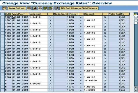 currency converter own rate sap currency exchange rate