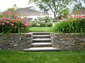 Retaining Wall Stairs Ideas by Stone Retaining Wall Stone Stairs Home Pinterest