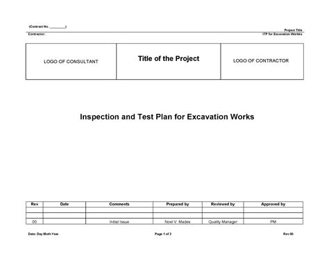 format email bouygues understanding about inspection and test plan itp