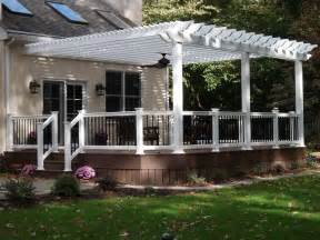 Attaching A Pergola To A House by Backyard Pergola Attached To House Home Design Ideas