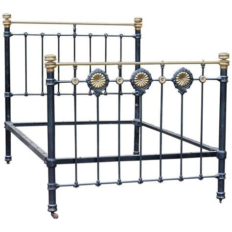 black iron bed brass and iron victorian bed in black for sale at 1stdibs