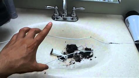 how to unclog a bathroom sink cleaning the stopper youtube