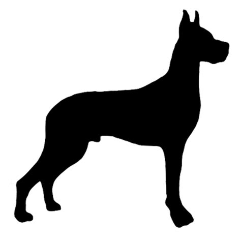 Great Dane Silhouette Decal   Set of 2   Lady Canine