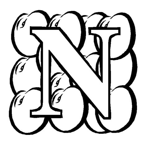 coloring pictures of letter n block letter n coloring page coloring pages