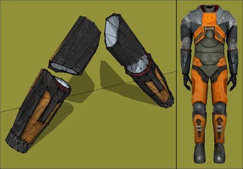 Papercraft Costume - half 2 papercraft hev suit arm armor