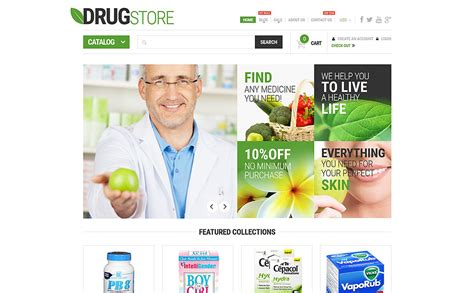 bootstrap templates for pharmacy pharmaceutical business shopify theme 53439