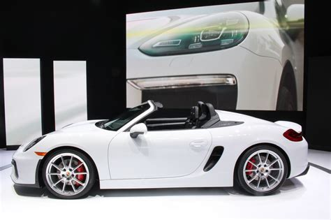 porsche boxster spyder 2015 2016 porsche boxster spyder at the new york auto show